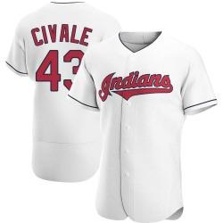 Aaron Civale Cleveland Indians Men's Authentic Home Jersey - White