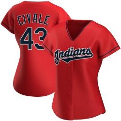 Aaron Civale Cleveland Indians Women's Replica Alternate Jersey - Red