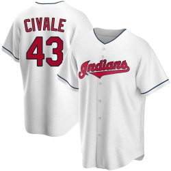 Aaron Civale Cleveland Indians Youth Replica Home Jersey - White