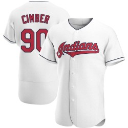 Adam Cimber Cleveland Indians Men's Authentic Home Jersey - White