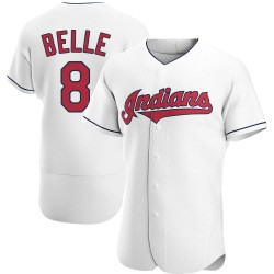 Albert Belle Cleveland Indians Men's Authentic Home Jersey - White