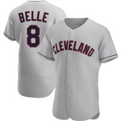 Albert Belle Cleveland Indians Men's Authentic Road Jersey - Gray