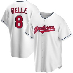 Albert Belle Cleveland Indians Youth Replica Home Jersey - White