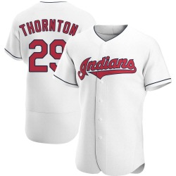 Andre Thornton Cleveland Indians Men's Authentic Home Jersey - White