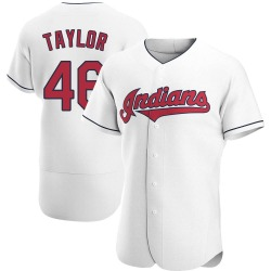 Beau Taylor Cleveland Indians Men's Authentic Home Jersey - White