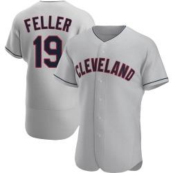 Bob Feller Cleveland Indians Men's Authentic Road Jersey - Gray