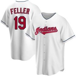Bob Feller Cleveland Indians Men's Replica Home Jersey - White