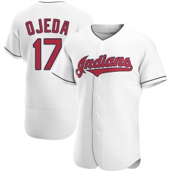 Bob Ojeda Cleveland Indians Men's Authentic Home Jersey - White