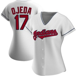 Bob Ojeda Cleveland Indians Women's Authentic Home Jersey - White