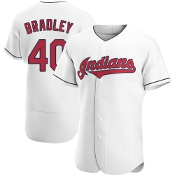Bobby Bradley Cleveland Indians Men's Authentic Home Jersey - White