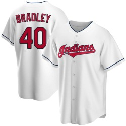 Bobby Bradley Cleveland Indians Men's Replica Home Jersey - White