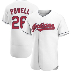 Boog Powell Cleveland Indians Men's Authentic Home Jersey - White