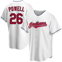 Boog Powell Cleveland Indians Men's Replica Home Jersey - White