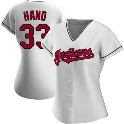 Brad Hand Cleveland Indians Women's Authentic Home Jersey - White