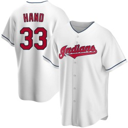 Brad Hand Cleveland Indians Youth Replica Home Jersey - White