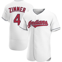 Bradley Zimmer Cleveland Indians Men's Authentic Home Jersey - White