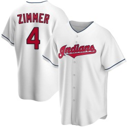 Bradley Zimmer Cleveland Indians Men's Replica Home Jersey - White