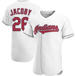 Brook Jacoby Cleveland Indians Men's Authentic Home Jersey - White