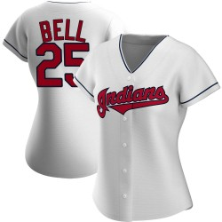Buddy Bell Cleveland Indians Women's Authentic Home Jersey - White