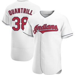 Cal Quantrill Cleveland Indians Men's Authentic Home Jersey - White