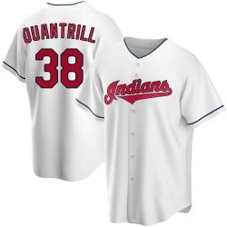 Cal Quantrill Cleveland Indians Men's Replica Home Jersey - White