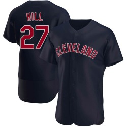 Cameron Hill Cleveland Indians Men's Authentic Alternate Jersey - Navy