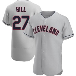 Cameron Hill Cleveland Indians Men's Authentic Road Jersey - Gray