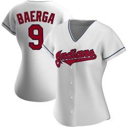 Carlos Baerga Cleveland Indians Women's Authentic Home Jersey - White