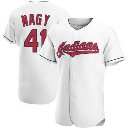 Charles Nagy Cleveland Indians Men's Authentic Home Jersey - White