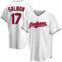 Chico Salmon Cleveland Indians Youth Replica Home Jersey - White