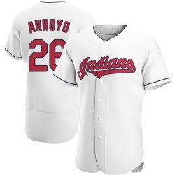 Christian Arroyo Cleveland Indians Men's Authentic Home Jersey - White