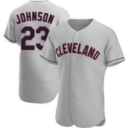 Daniel Johnson Cleveland Indians Men's Authentic Road Jersey - Gray