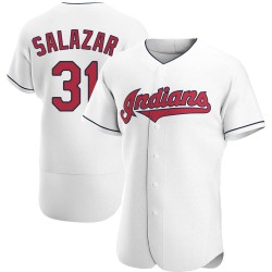 Danny Salazar Cleveland Indians Men's Authentic Home Jersey - White