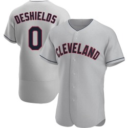 Delino DeShields Cleveland Indians Men's Authentic Road Jersey - Gray