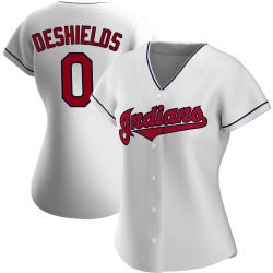 Delino DeShields Cleveland Indians Women's Authentic Home Jersey - White