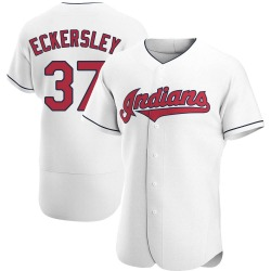 Dennis Eckersley Cleveland Indians Men's Authentic Home Jersey - White