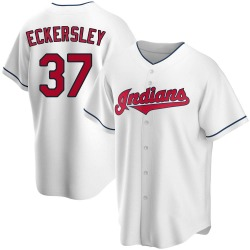 Dennis Eckersley Cleveland Indians Men's Replica Home Jersey - White