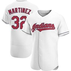 Dennis Martinez Cleveland Indians Men's Authentic Home Jersey - White