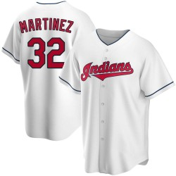 Dennis Martinez Cleveland Indians Men's Replica Home Jersey - White