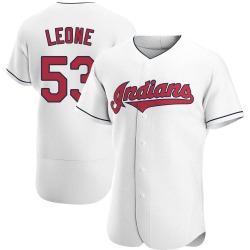Dominic Leone Cleveland Indians Men's Authentic Home Jersey - White