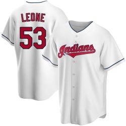 Dominic Leone Cleveland Indians Men's Replica Home Jersey - White