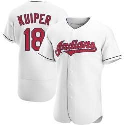 Duane Kuiper Cleveland Indians Men's Authentic Home Jersey - White