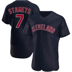 Eric Stamets Cleveland Indians Men's Authentic Alternate Jersey - Navy