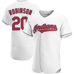 Frank Robinson Cleveland Indians Men's Authentic Home Jersey - White
