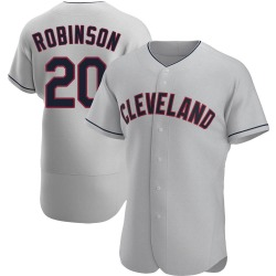 Frank Robinson Cleveland Indians Men's Authentic Road Jersey - Gray