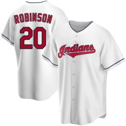 Frank Robinson Cleveland Indians Men's Replica Home Jersey - White