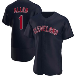 Greg Allen Cleveland Indians Men's Authentic Alternate Jersey - Navy