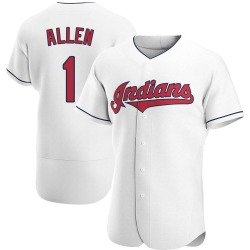 Greg Allen Cleveland Indians Men's Authentic Home Jersey - White