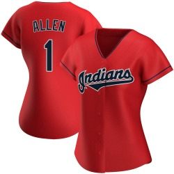 Greg Allen Cleveland Indians Women's Authentic Alternate Jersey - Red