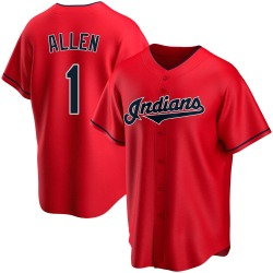 Greg Allen Cleveland Indians Youth Replica Alternate Jersey - Red
